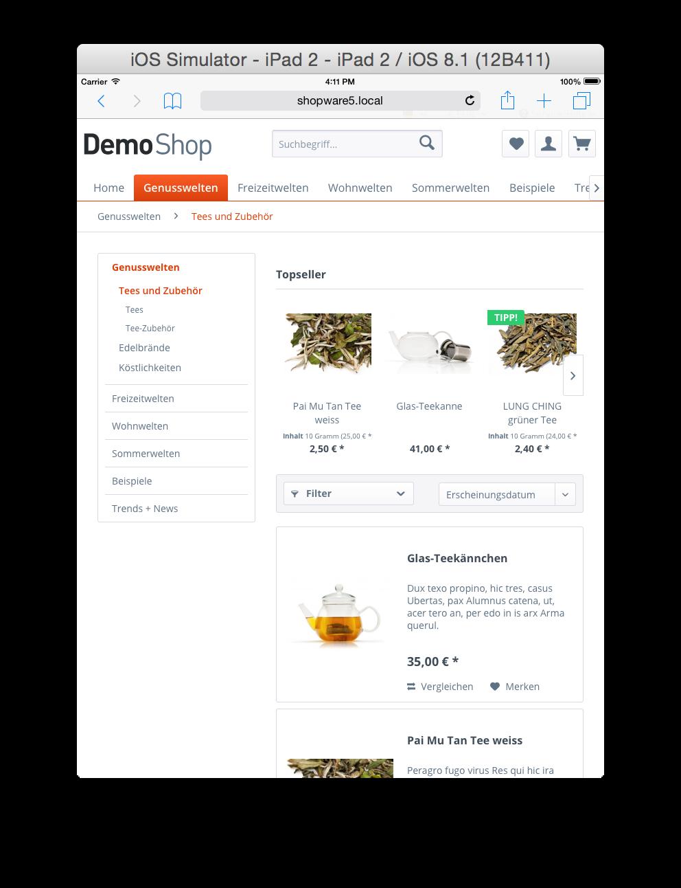 Shopware 5 Theme Startup Guide